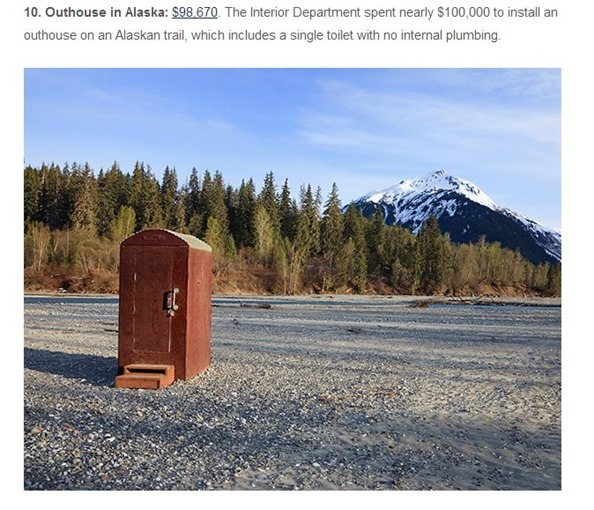 outhouse in Alaska, the heritage foundation.