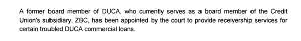 zenbanx board statement